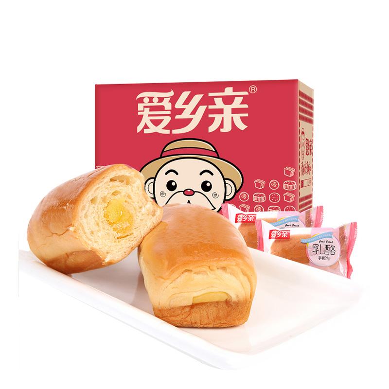 爱乡亲乳酪手撕面包1000g