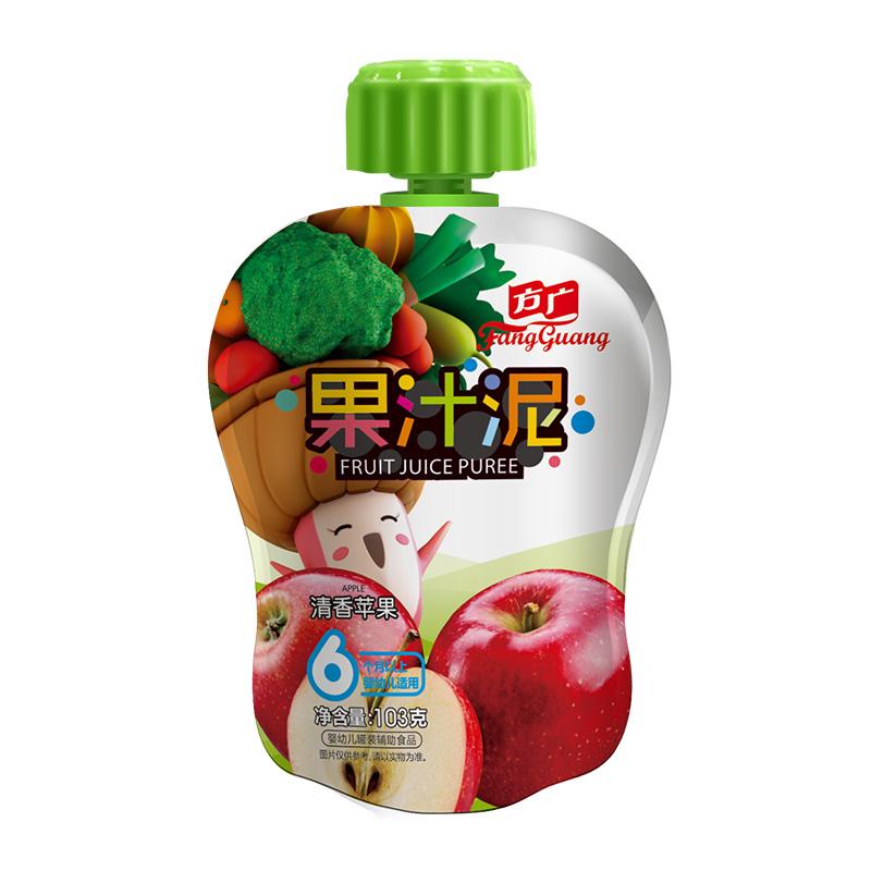 方广 果泥 婴儿辅食 清香苹果果汁泥103g/袋