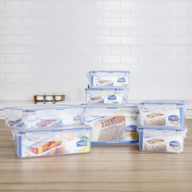 乐扣乐扣(LOCK&LOCK) PP塑料保鲜盒饭盒便当盒多种型号组合套装透明保鲜盒礼盒套装 七件套