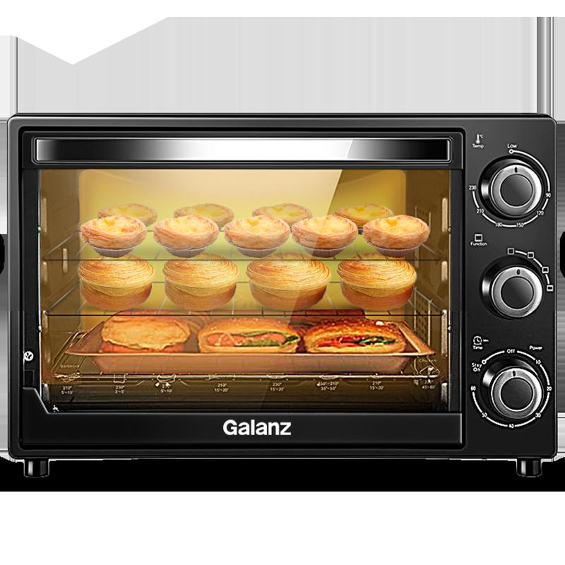 格兰仕(Galanz)32升电烤箱家用小型多层烤位多功能大视窗蛋糕烘焙烤箱K12