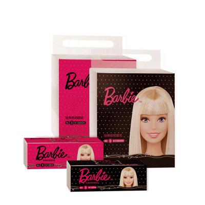 芭比(Barbie) 抽纸 经典倍韧系列3层130抽3包抽取式纸巾大规格(长幅)(红与黑)随机发 母婴适用